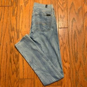 7 For All Mankind Roxanne Skinny Bleached Jeans